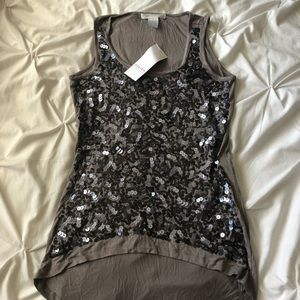 NWT Design History Sequin Front Tank